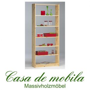 Massivholz Regal Bücherregal Kiefer massiv lackiert 84x205 Axel