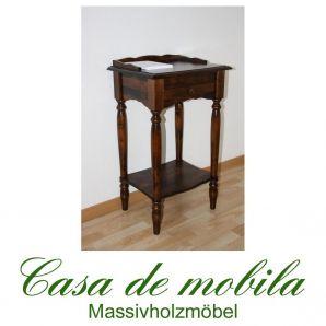 Massivholz Beistelltisch Laptop-Tisch kolonial Telefontisch DECOR Pappel massiv gebeizt lackiert