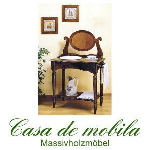 Massivholz Waschtisch groß Pappel AQUA - kolonial gebeizt und lackiert