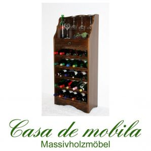 Massivholz Weinregal Flaschenregal kolonial 25 DECOR Fichte massiv gebeizt/lackiert