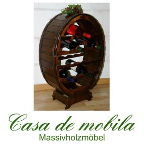 Massivholz Weinregal Flaschenregal Kolonial 18 Fichte massiv DECOR lackiert
