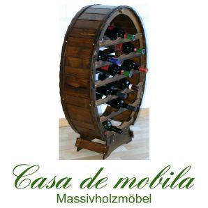 Massivholz Weinregal Flaschenregal Kolonial 24 Fichte massiv DECOR gebeizt/lackiert