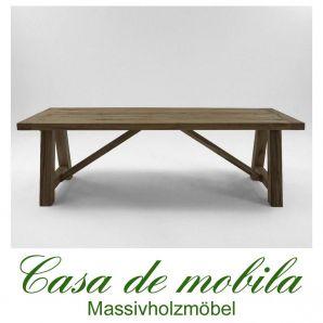 Echtholz Tisch Esstisch 300x110 Wildeiche Massiv Rucherl