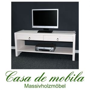 vollholz tv lowboard bank flurbank kiefer massiv weiss lasiert stockholm. Black Bedroom Furniture Sets. Home Design Ideas
