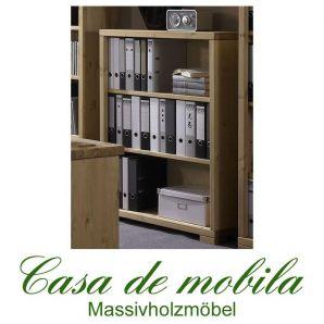 Massivholz Büroregal Kiefer massiv gelaugt geölt naturholz Regal GULDBORG Bücherregal