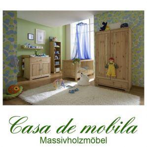 Massivholz Babymöbel Kinderzimmer komplett 6teilig Kiefer massiv gelaugt geölt Naturholz GULDBORG