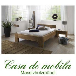 vollholz balkenbett doppelbett rustikal 160x200 fichte massiv antik gebeizt gewachst elisey. Black Bedroom Furniture Sets. Home Design Ideas