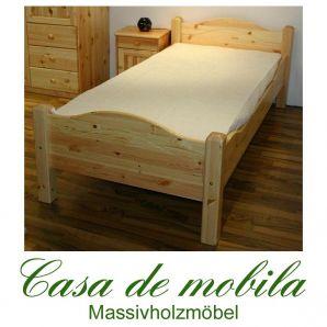Massivholz Bett Überlänge Kiefer massiv natur lackiert ROJA holzbett Landhaus 100x220,