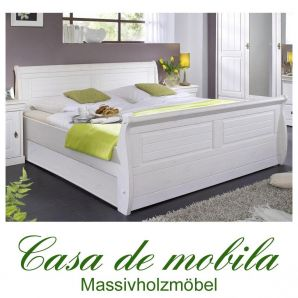 bettgestell bett 100x200 weiss holz kiefer massiv landhaus neapel. Black Bedroom Furniture Sets. Home Design Ideas
