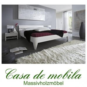 massivholz bett 100x200 easy sleep kiefer massiv wei. Black Bedroom Furniture Sets. Home Design Ideas