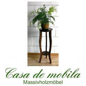 Massivholz Blumenhocker kolonial Blumentisch rund DECOR - 80cm, Pappel massiv kolonialstil gebeizt lackiert