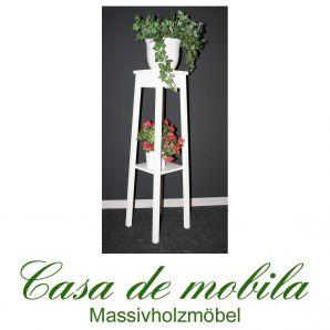 Massivholz Blumenhocker Blumentisch Blumenständer Pappel massiv DECOR - 100cm, weiß lackiert