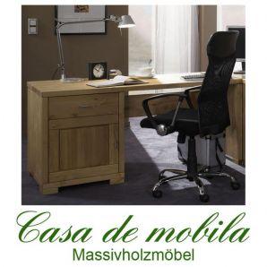 Massivholz Schreibtisch Kiefer massiv gelaugt geölt naturholz Computertisch GULDBORG - 160x69,