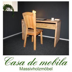 Massivholz Schreibtisch Kiefer massiv gelaugt geölt naturholz Computertisch GULDBORG - 120x69,