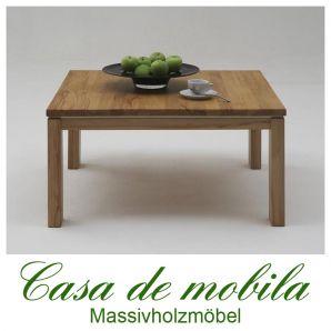 Massivholz Couchtisch Kernbuche massiv natur geölt CASERA - 125x75 cm.