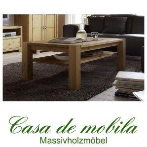 Massivholz Couchtisch Kiefer massiv gelaugt geölt Wohnzimmertisch GULDBORG 120x74