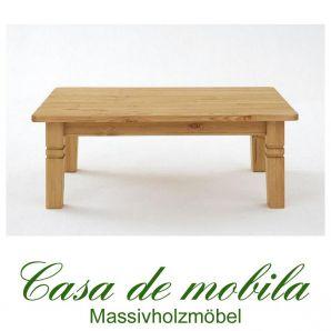 Massivholz Couchtisch Holz Kiefer massiv gelaugt geölt - Bergen 120x78