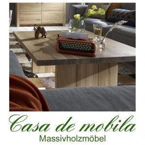 Massivholz Couchtisch Holz Wildeiche massiv natur geölt BINZ 90x90cm Beistelltisch Eiche