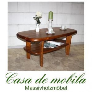 Massivholz Couchtisch Kiefer massiv honig lackiert Kieferncouchtisch No. 452 - 116x61
