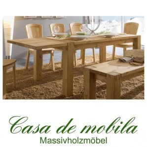 Massivholz Esstisch 160x90 Kiefer massiv gelaugt geölt Tisch Kieferntisch GULDBORG