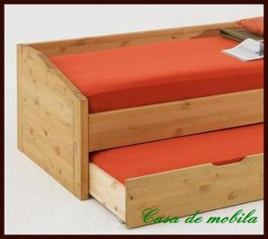 Massivholz Kojenbett Schubladenbett 90x200 Nils - Holz Kiefer massiv gelaugt geölt