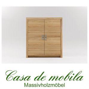 Massivholz Highboard Anrichte Holz Kernbuche massiv geölt - MESSINA