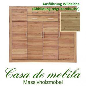 Massivholz Highboard IIIa Jale Anrichte Wildeiche massiv geölt