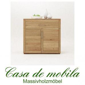 Massivholz Highboard Anrichte Wildeiche massiv natur geölt OXFORD 2+1