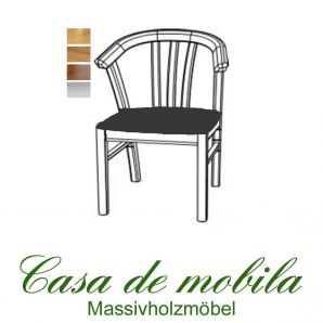 Massivholz Armlehnstuhl gepolstert Kiefer massiv provance / honig lackiert FARO stuhl mit armlehne Holzstuhl Esszimmerstuhl