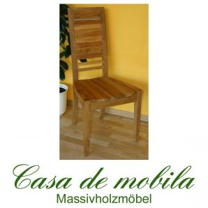 Massivholz Stuhl Eiche massiv Eichenstuhl - Holzstühle Max Wildeiche geölt