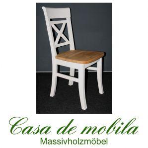Massivholz Stuhl Stühle Holzstuhl Kiefernstuhl Kiefer massiv weiß gelaugt geölt Fjord