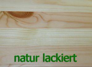 Vollholz Couchtisch rund 74x74 No.453 - Kiefer massiv natur lackiert
