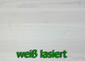 Massivholz Highboard Guldborg - Holz Kiefer massiv weiß lasiert