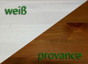 Massivholz Wohnzimmerschrank Highboard Guldborg - Holz Kiefer massiv 2-farbig weiß lasiert / provance lackiert