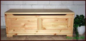 Massivholz Deckeltruhe groß Guldborg Truhe Holz Kiefer massiv natur lackiert