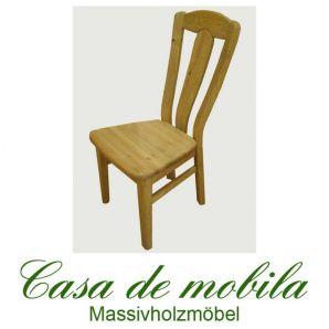 2er-Set holzstühle Set Stühle Kieferstühle gelaugt geölt MODEL F
