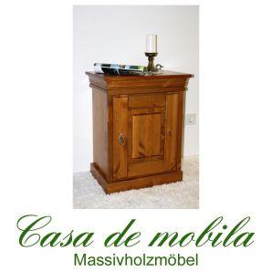 Massivholz Nachttisch Kiefer massiv honig lackiert  Nachtkommode Nachtschrank ROLAND