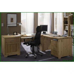Massivholz Schreibtisch-Eckplatte Kiefer GULDBORG - 69x69, gelaugt/geölt