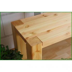 Vollholz Sitzbank Bank 160 cm Guldborg - Holz Kiefer massiv natur lackiert