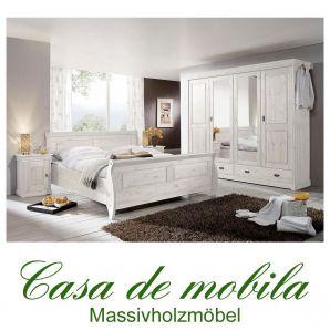 landhaus schlafzimmer roland ii kiefer massiv wei lasiert. Black Bedroom Furniture Sets. Home Design Ideas