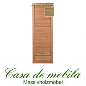 Massivholz Schrank 1-türig groß Jale Wohnzimmerschrank Wildeiche massiv geölt