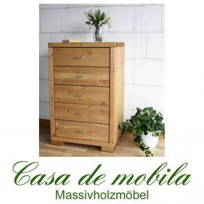 Massivholz Schubladenkommode Kiefer massiv gelaugt geölt naturholz Kommode Schubladenschrank GULDBORG