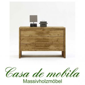 Massivholz Schubladenkommode Kommode antik gewachst - 120x80 Tirol Kiefer massiv Fichte