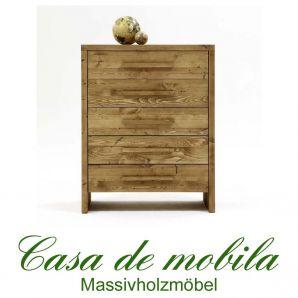 Massivholz Schubladenkommode Kommode antik gewachst - 90x109 Tirol Kiefer massiv Fichte