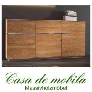 Massivholz Sideboard Kommode Asteiche massiv natur geölt - ACERRO