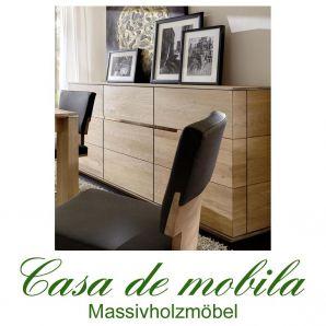 Massivholz Sideboard Kommode Asteiche massiv bianco gebürstet geölt - ACERRO