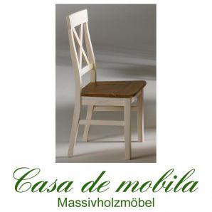 Massivholz Stuhl Stühle Holzstuhl Kiefernstuhl Kiefer massiv weiß gelaugt geölt Bergen