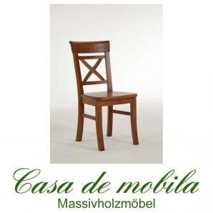 Stuhl Stühle landhausstil honig Fjord - Holz Kiefer massiv bernsteinfarben lackiert