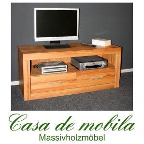 Massivholz TV-Lowboard TV Kommode Jale - Kernbuche massiv geölt
