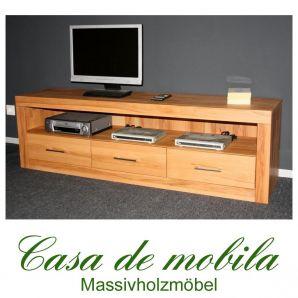 Massivholz TV-Lowboard TV Kommode groß Jale - Kernbuche massiv geölt